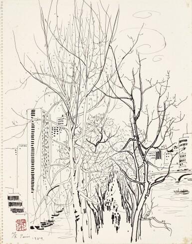 View 1. Thumbnail of Lot 2519. Wu Guanzhong 吳冠中 | Scenery Along the Seine 巴黎塞納河.