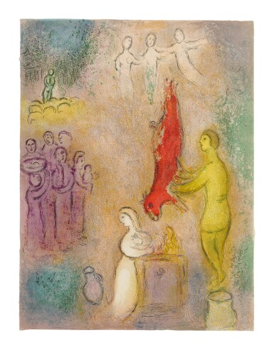 View 1. Thumbnail of Lot 15. MARC CHAGALL   SACRIFICES MADE TO THE NYMPHS (M. 330; SEE C. BKS. 46).