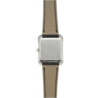 View 5. Thumbnail of Lot 53. REFERENCE 31100 TOLEDO A PLATINUM SQUARE SHAPED WRISTWATCH, CIRCA 1993.