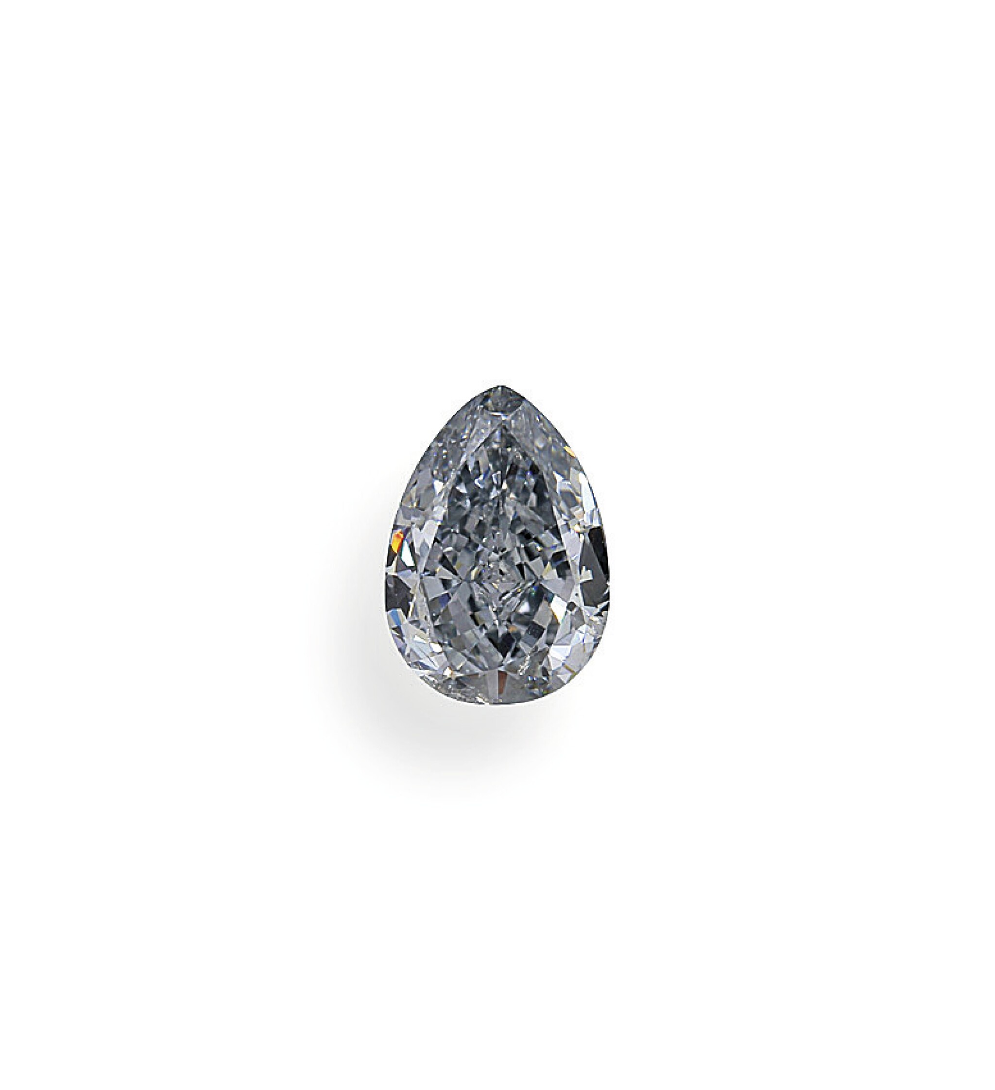 View full screen - View 1 of Lot 1. A 1.02 Carat Fancy Blue Pear-Shaped Diamond, SI2 Clarity.
