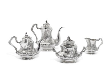 A Fabergé silver tea and coffee service, Moscow, 1898-1908