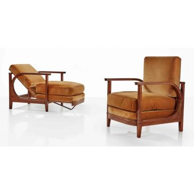 View 1. Thumbnail of Lot 75. Pair of Armchairs.