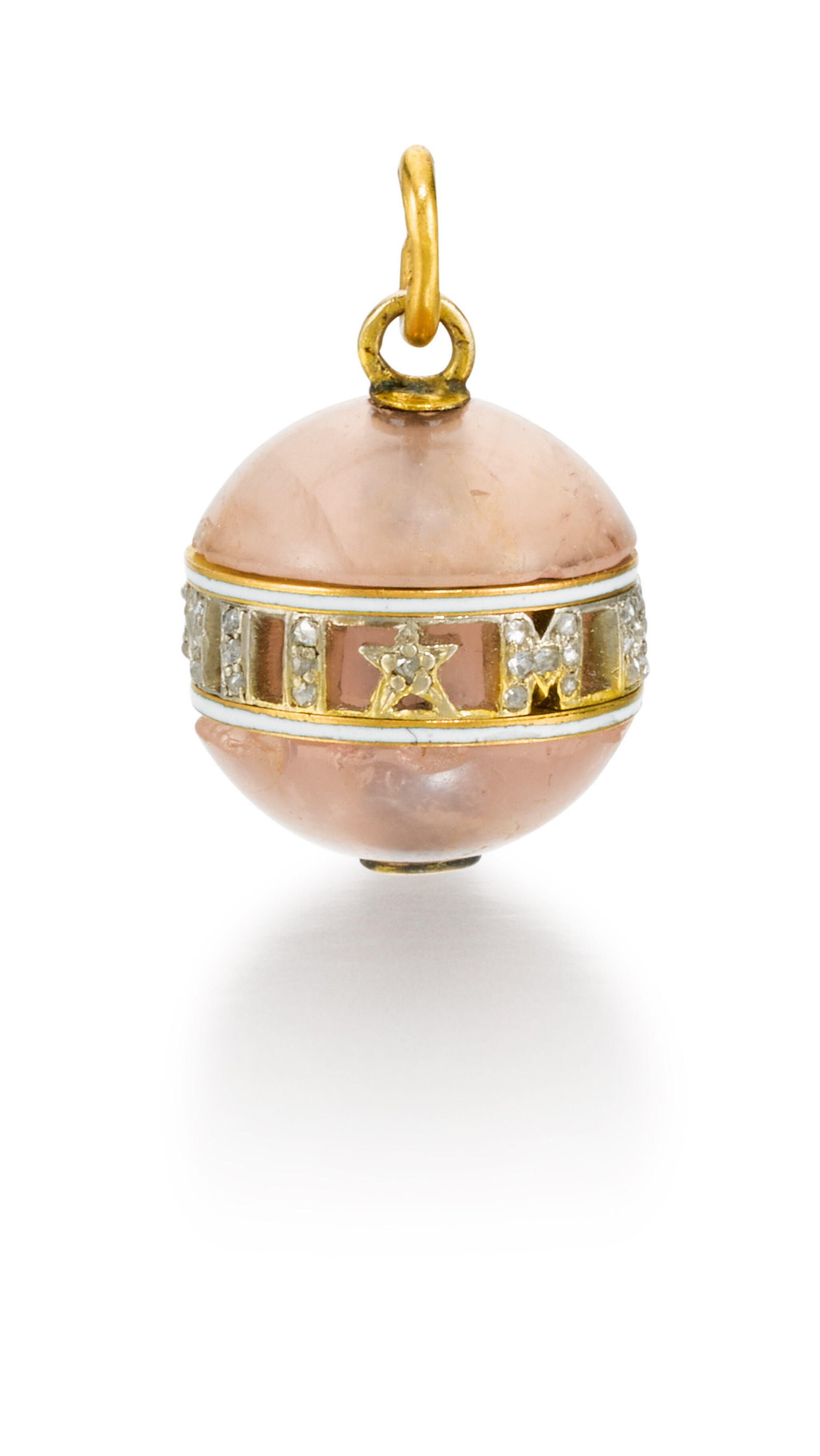 A jewelled gold and hardstone pendant, circa 1908