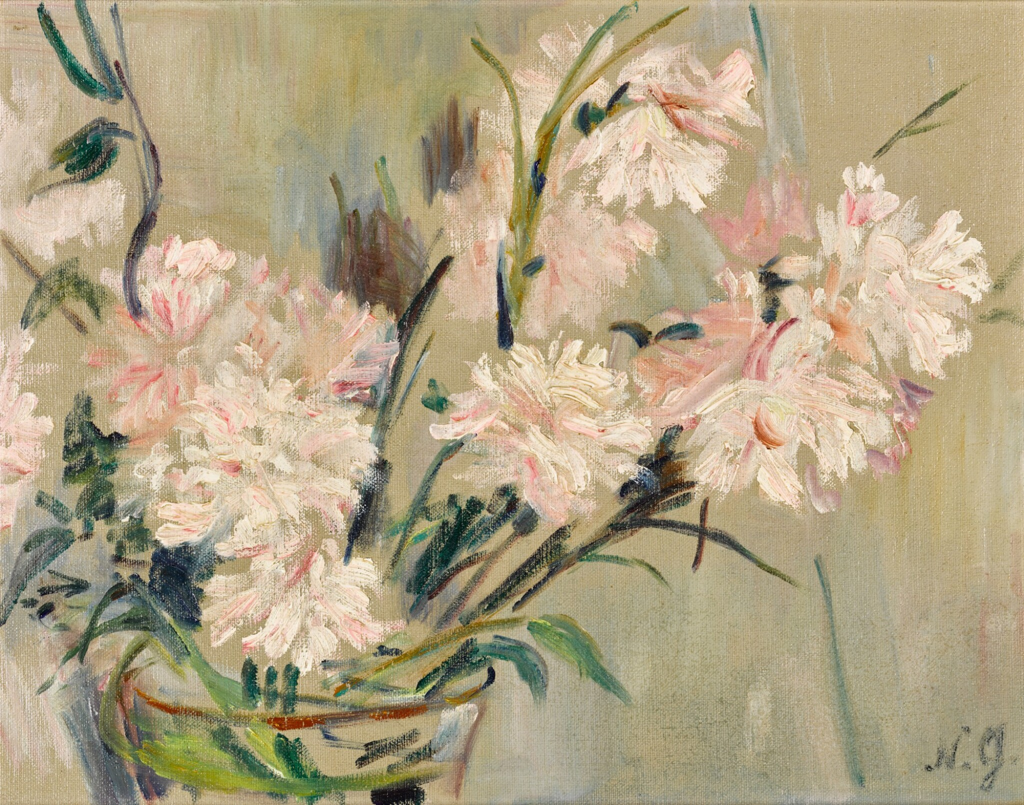 View full screen - View 1 of Lot 164. Still Life with Chrysanthemums.
