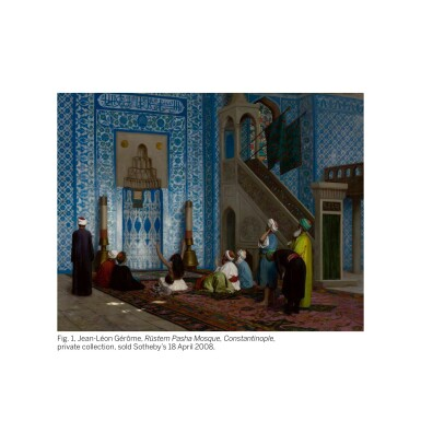 View 2. Thumbnail of Lot 22. RUDOLF ERNST | THE MOSQUE OF RÜSTEM PASHA, CONSTANTINOPLE.