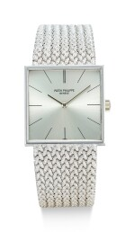 PATEK PHILIPPE | REFERENCE 3503 A WHITE GOLD BRACELET WATCH, MADE IN 1965