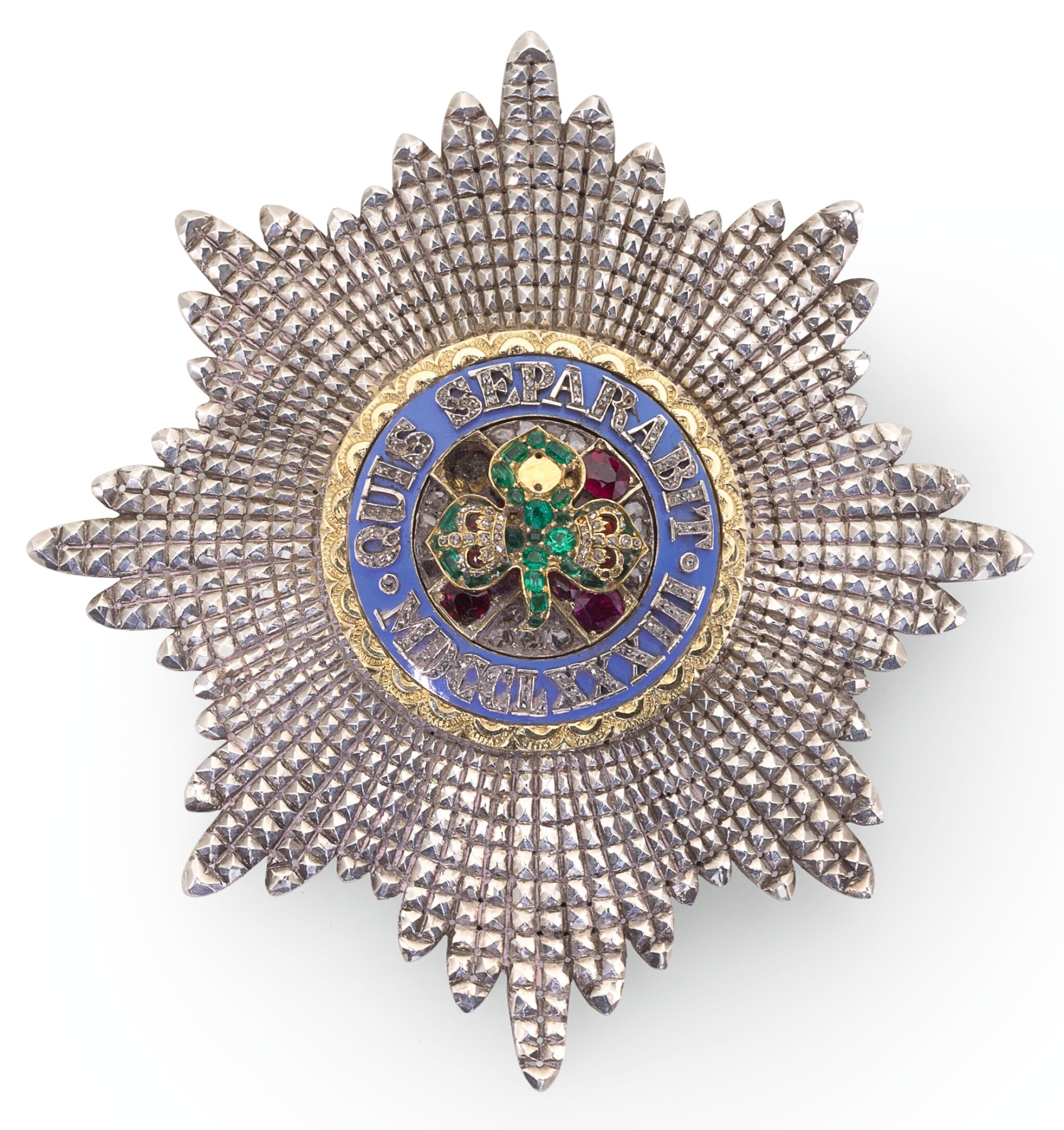 View full screen - View 1 of Lot 187. THE MOST ILLUSTRIOUS ORDER OF ST PATRICK, A JEWELLED BREAST STAR.
