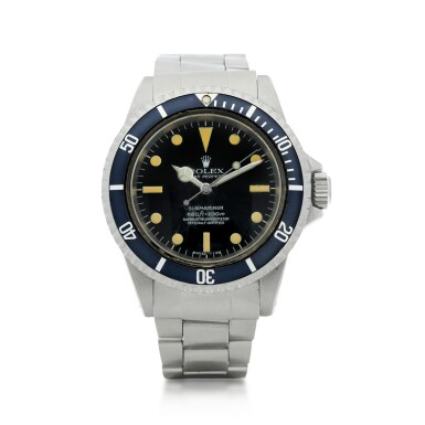 View 1. Thumbnail of Lot 102. ROLEX   REFERENCE 5512 SUBMARINER A STAINLESS STEEL AUTOMATIC WRISTWATCH WITH BRACELET, CIRCA 1965.