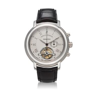 View 1. Thumbnail of Lot 368. Reference 25909BC Jules Audemars  A white gold tourbillon chronograph wristwatch, Circa 2000 .