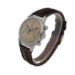 LONGINES | 'DOUBLE HAND', REF 5699  STAINLESS STEEL CHRONOGRAPH WRISTWATCH   CIRCA 1945