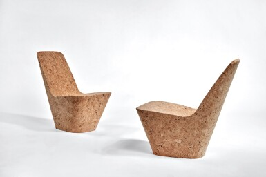 View 1. Thumbnail of Lot 115. Pair of Cork Chairs.
