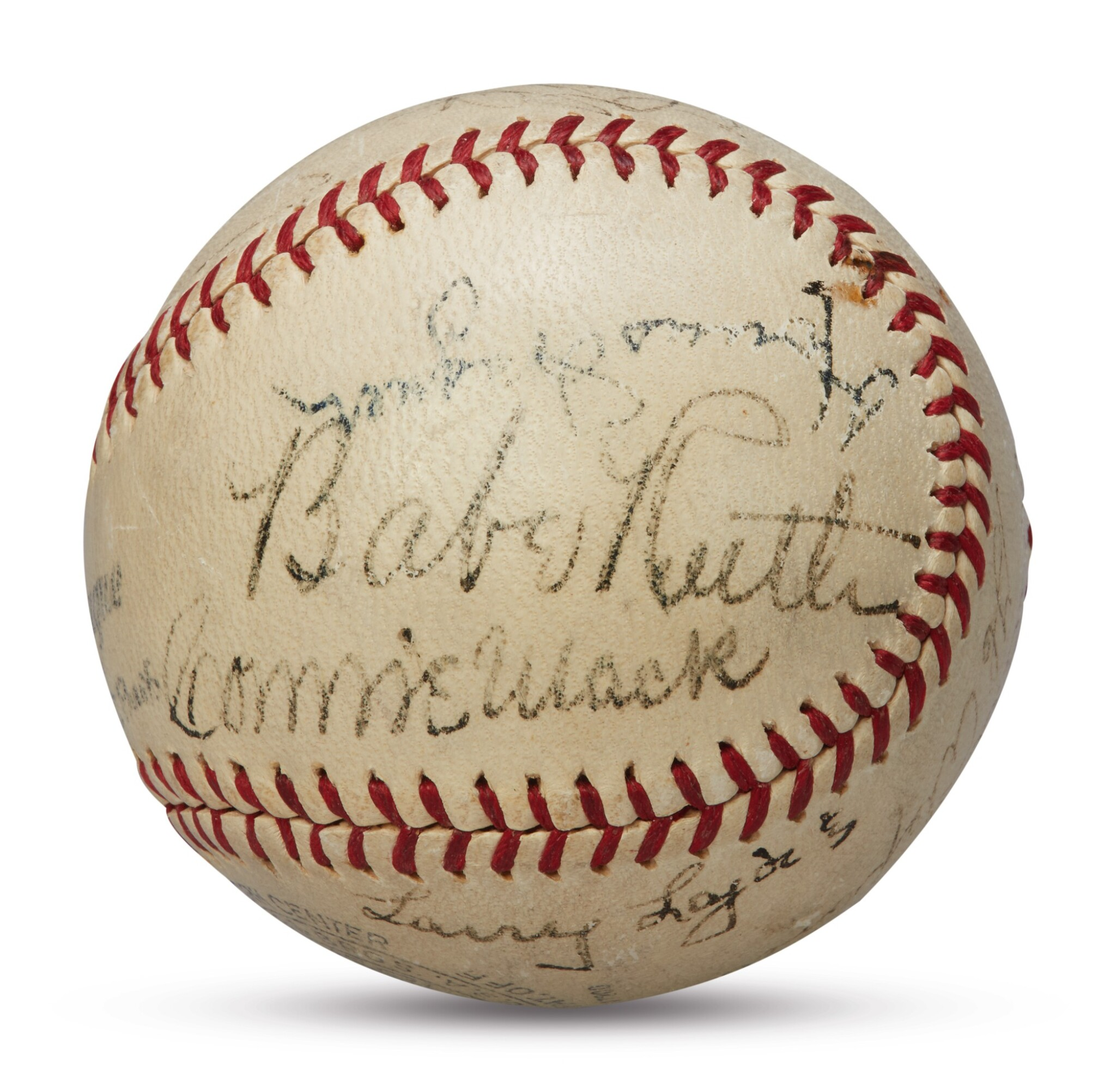 View full screen - View 1 of Lot 127. Baseball Hall of Fame   A signed baseball worthy of the Hall of Fame.