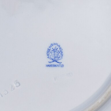 View 3. Thumbnail of Lot 61. A HEREND 'QUEEN VICTORIA RUST' PATTERN COMPOSITE PART DINNER AND DESSERT SERVICE .