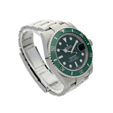 View 3. Thumbnail of Lot 18. ROLEX | REFERENCE 116610LV SUBMARINER 'HULK'  A STAINLESS STEEL AUTOMATIC WRISTWATCH WITH DATE AND BRACELET, CIRCA 2018.
