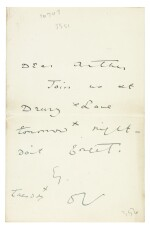 WILDE   autograph letter signed, to Arthur Clifton, n.d.