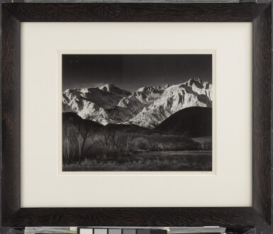 View 2. Thumbnail of Lot 46. 'Sierra Nevada, Winter, from the Owens Valley, California'.