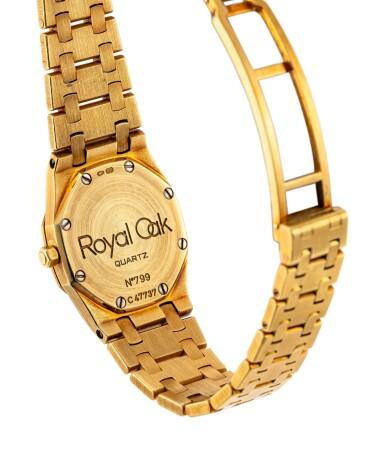View 3. Thumbnail of Lot 866. AUDEMARS PIGUET | ROYAL OAK A YELLOW GOLD AND DIAMOND-SET BRACELET WATCH, CIRCA 1980.