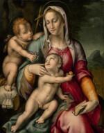 PIER FRANCESCO DI JACOPO FOSCHI | THE MADONNA AND CHILD AND THE INFANT SAINT JOHN THE BAPTIST