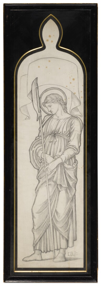 View 8. Thumbnail of Lot 37. SIR EDWARD COLEY BURNE-JONES, BT., A.R.A., R.W.S. AND STUDIO   FOUR CARTOONS FOR WINDOWS.
