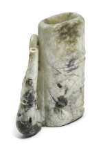 A CHICKEN BONE VASE GROUP | QING DYNASTY, 19TH CENTURY [TWO ITEMS]