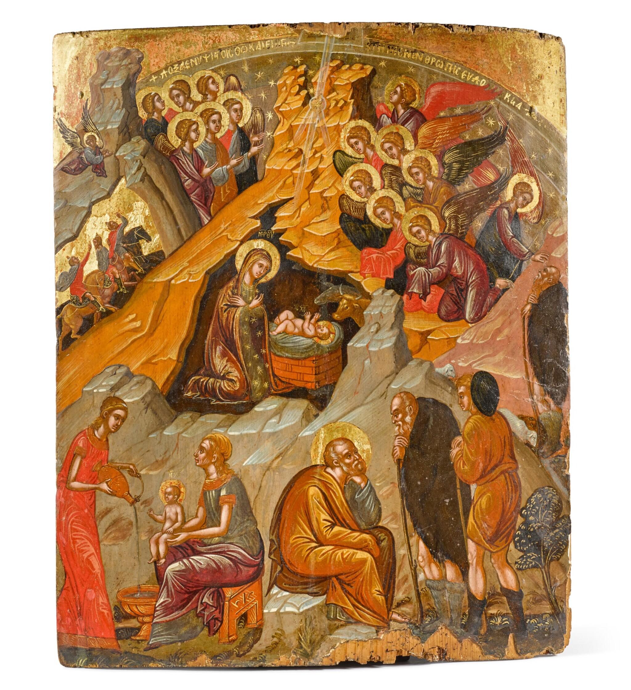 View full screen - View 1 of Lot 275. Nativity, Italo-Cretan, 16th century.