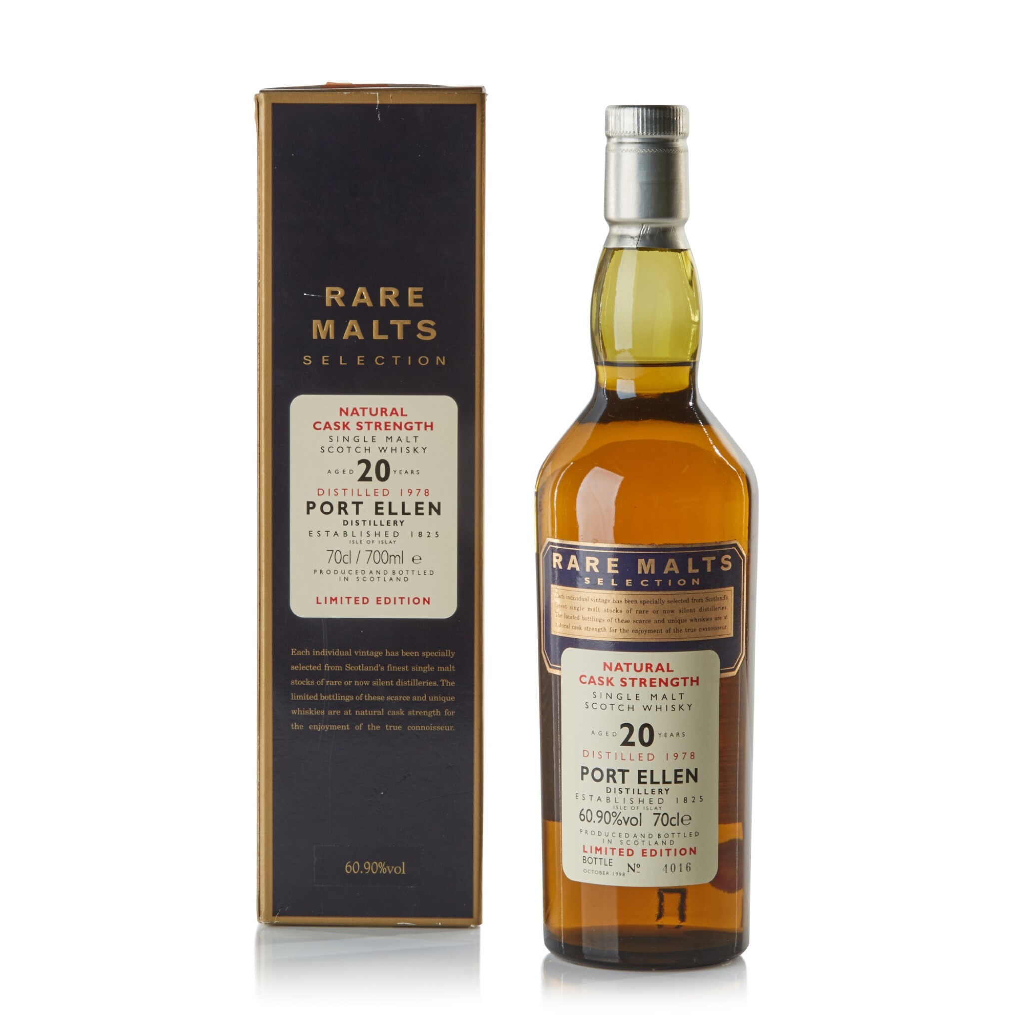View full screen - View 1 of Lot 107.  Port Ellen Rare Malts 20 Year Old 60.9 abv 1978 .