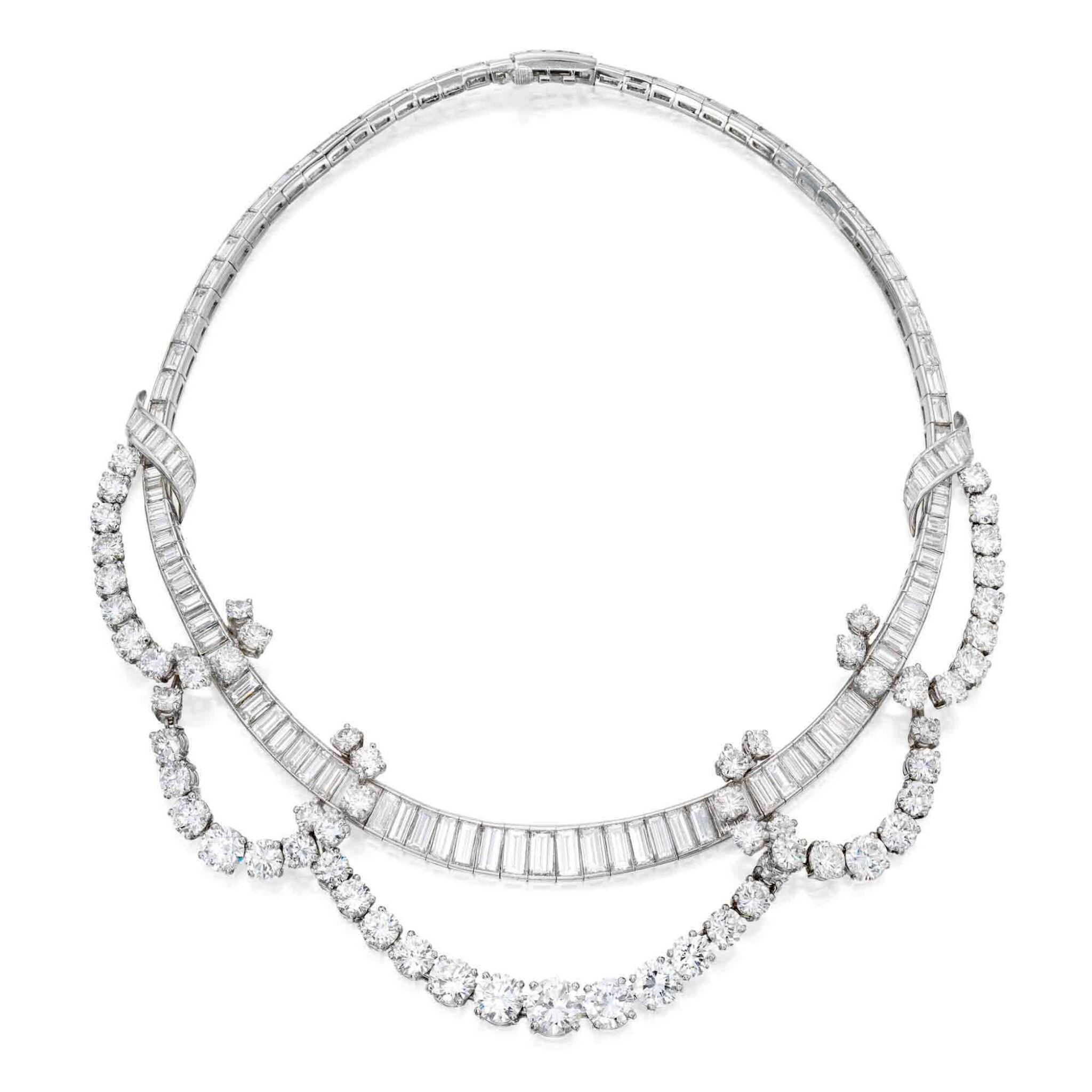View full screen - View 1 of Lot 93. Diamond Necklace [鑽石項鏈].