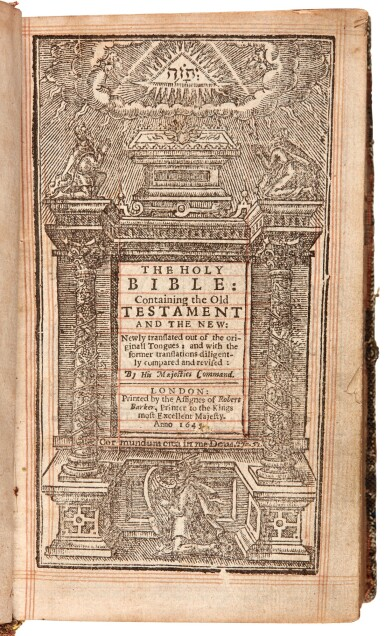View 4. Thumbnail of Lot 66. BIBLE   1645, embroidered binding.