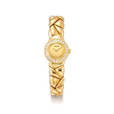 View 1. Thumbnail of Lot 8164. ROLEX | REFERENCE 2732 | A YELLOW GOLD AND DIAMOND-SET BRACELET WATCH, CIRCA 1990 |  勞力士 |  型號2732 黃金鑲鑽石鏈帶腕錶,約1990年製.
