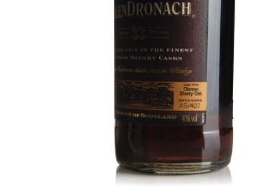 View 3. Thumbnail of Lot 260. THE GLENDRONACH OLOROSO  SHERRY CASK 33 YEAR OLD 40.0 ABV NV .