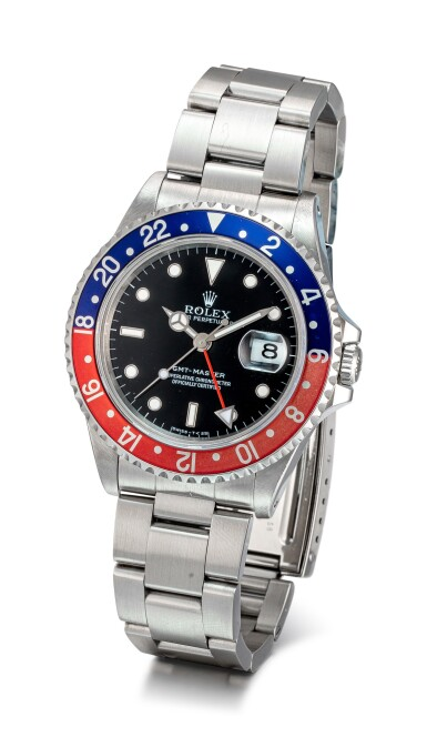 View 2. Thumbnail of Lot 605. ROLEX |  GMT-MASTER, REFERENCE 16700,  A STAINLESS STEEL DUAL TIME ZONE WRISTWATCH WITH DATE AND BRACELET, CIRCA 1991.