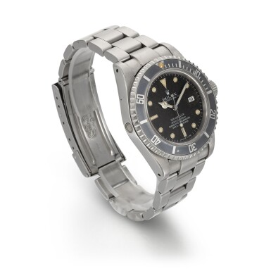 View 3. Thumbnail of Lot 372. ROLEX | 'TRIPLE SIX' SEA-DWELLER, STAINLESS STEEL WRISTWATCH WITH DATE REFERENCE 16660, CIRCA 1985.