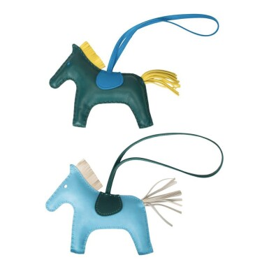 Hermès Set of Two Grigri Rodeo Bag Charms Size MM