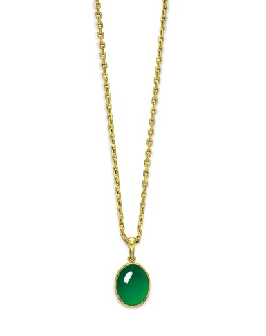 View 1. Thumbnail of Lot 1722. A Very Fine Jadeite Pendent Necklace | 天然翡翠項鏈.