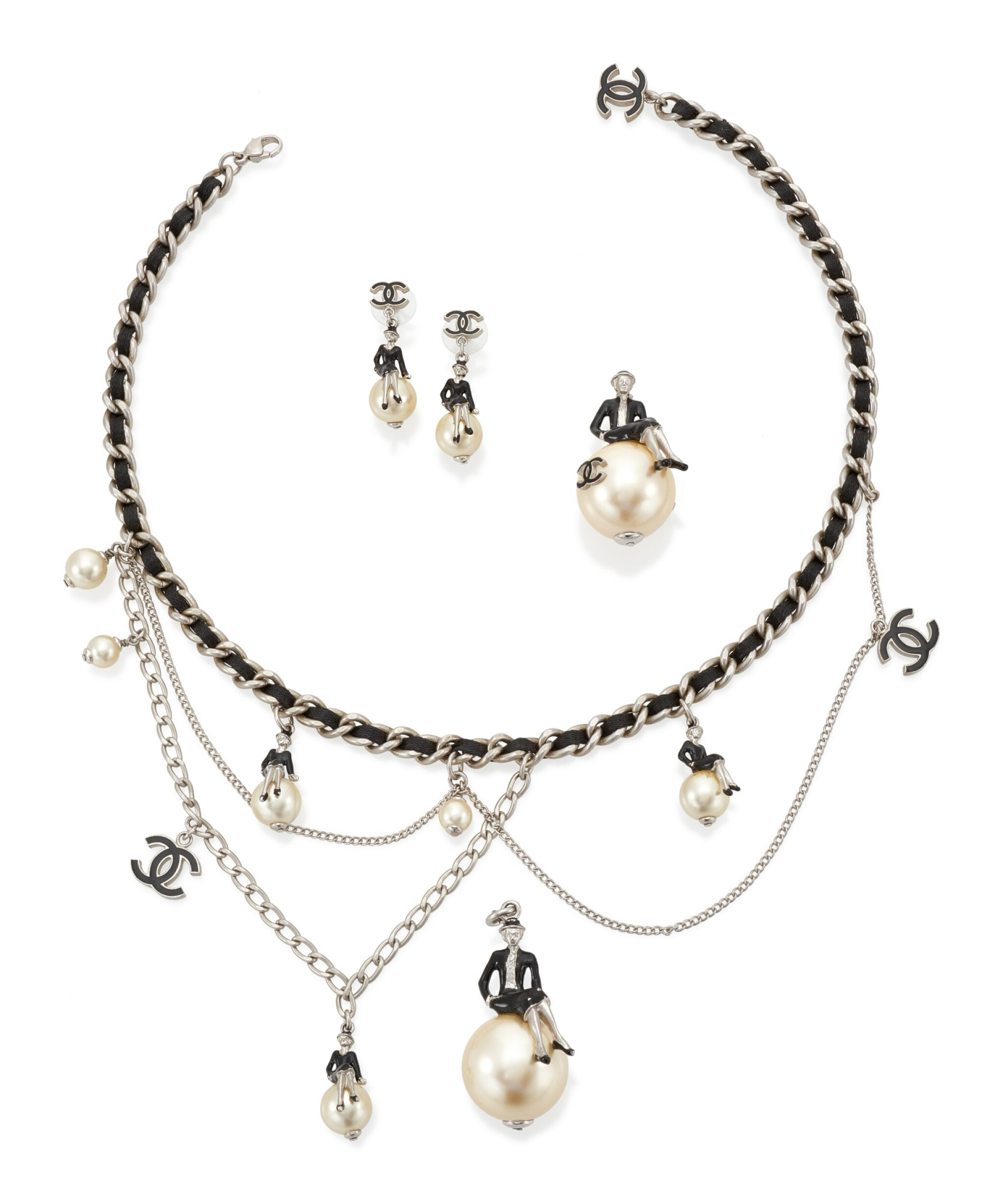 View 1 of Lot 20. 'COCO ON THE MOON' DEMI-PARURE , CHANEL.