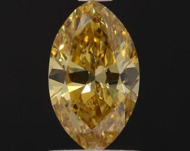 A 1.10 Carat Fancy Deep Orangy Yellow Marquise-Shaped Diamond