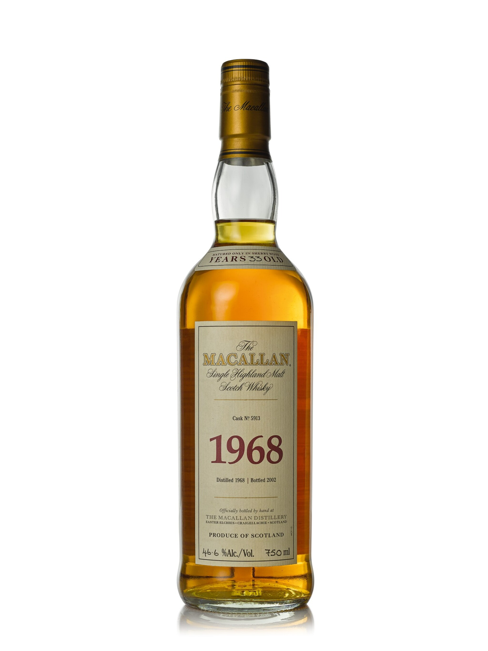 View full screen - View 1 of Lot 5. The Macallan Fine & Rare 33 Year Old 46.6 abv 1968 (1 BT75cl).