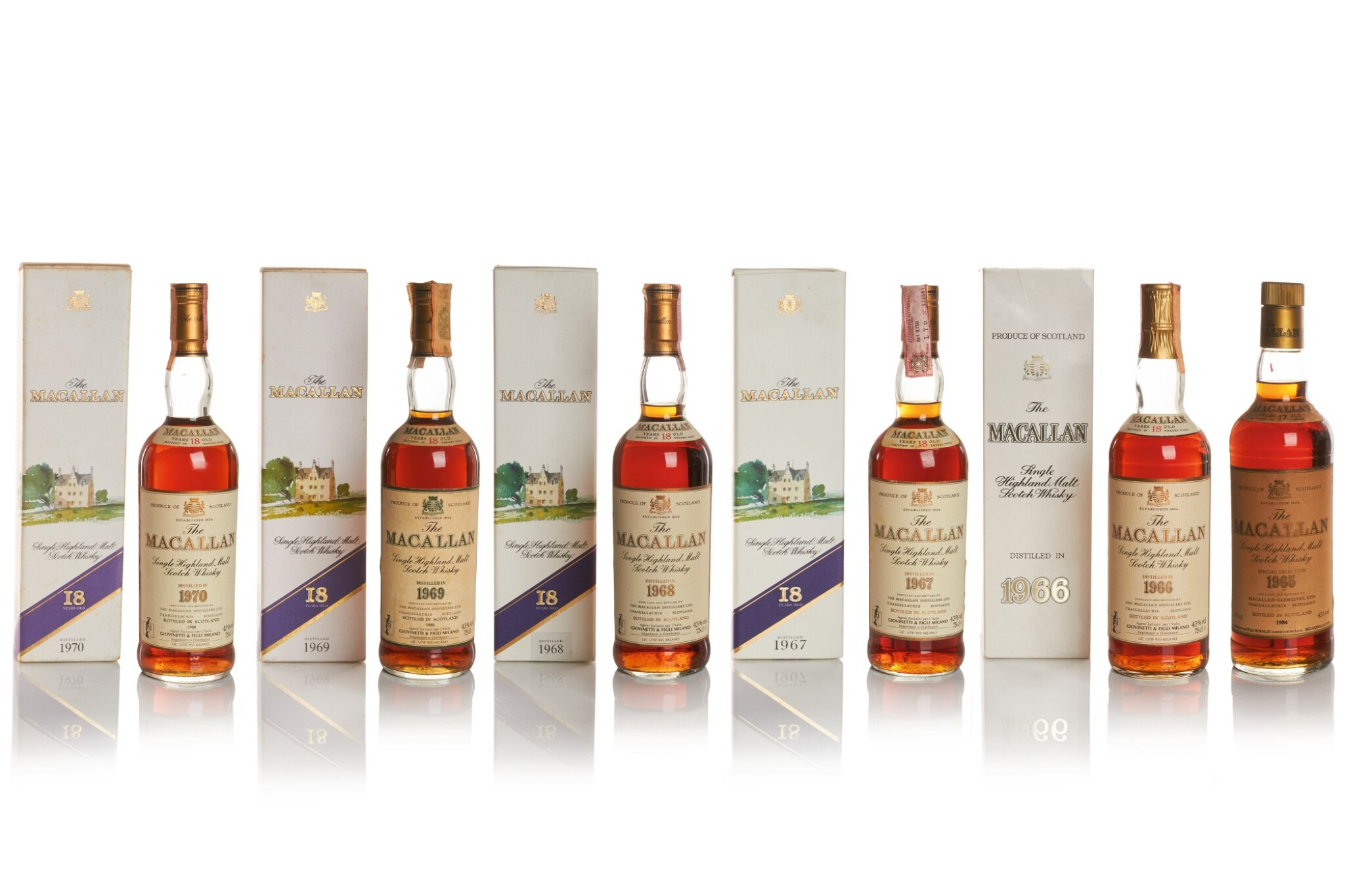 View 1 of Lot 18. THE MACALLAN 18 YEAR OLD 43.0 ABV 1967 .