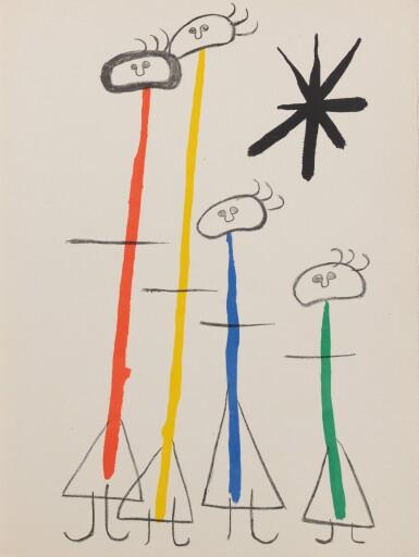 View 3. Thumbnail of Lot 149. Parler seul. Maeght, 1948-1950. Exceptionnel envoi à René Char, avec un grand dessin original.