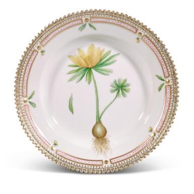 View 2. Thumbnail of Lot 96. Fifteen Royal Copenhagen Flora Danica side plates, 20th century.