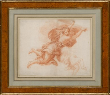 View 3. Thumbnail of Lot 135. Study of an angel in flight and a putto.