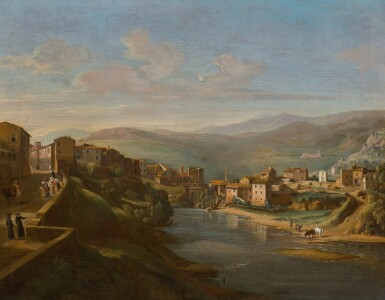 GASPAR VAN WITTEL, CALLED VANVITELLI | Tivoli, a view of the Aniene above the old Falls