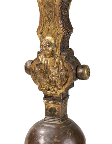 View 5. Thumbnail of Lot 3. ITALIAN, PROBABLY TUSCANY, CIRCA 1500   AN IMPORTANT DOUBLE-SIDED PROCESSIONAL CROSS.