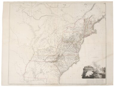 View 1. Thumbnail of Lot 154. Arrowsmith, Aaron | The famed wall map of the United States.