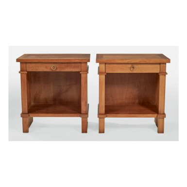 IN THE STYLE OF ANDRÉ ARBUS | PAIR OF BEDSIDE TABLES