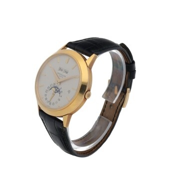 View 2. Thumbnail of Lot 72. Ref. 3450 Yellow gold perpetual calendar wristwatch with moon phases and leap-year indication Made in 1982 | 百達翡麗 3450型號黃金萬年曆腕錶備月相及閏年顯示,1982年製.