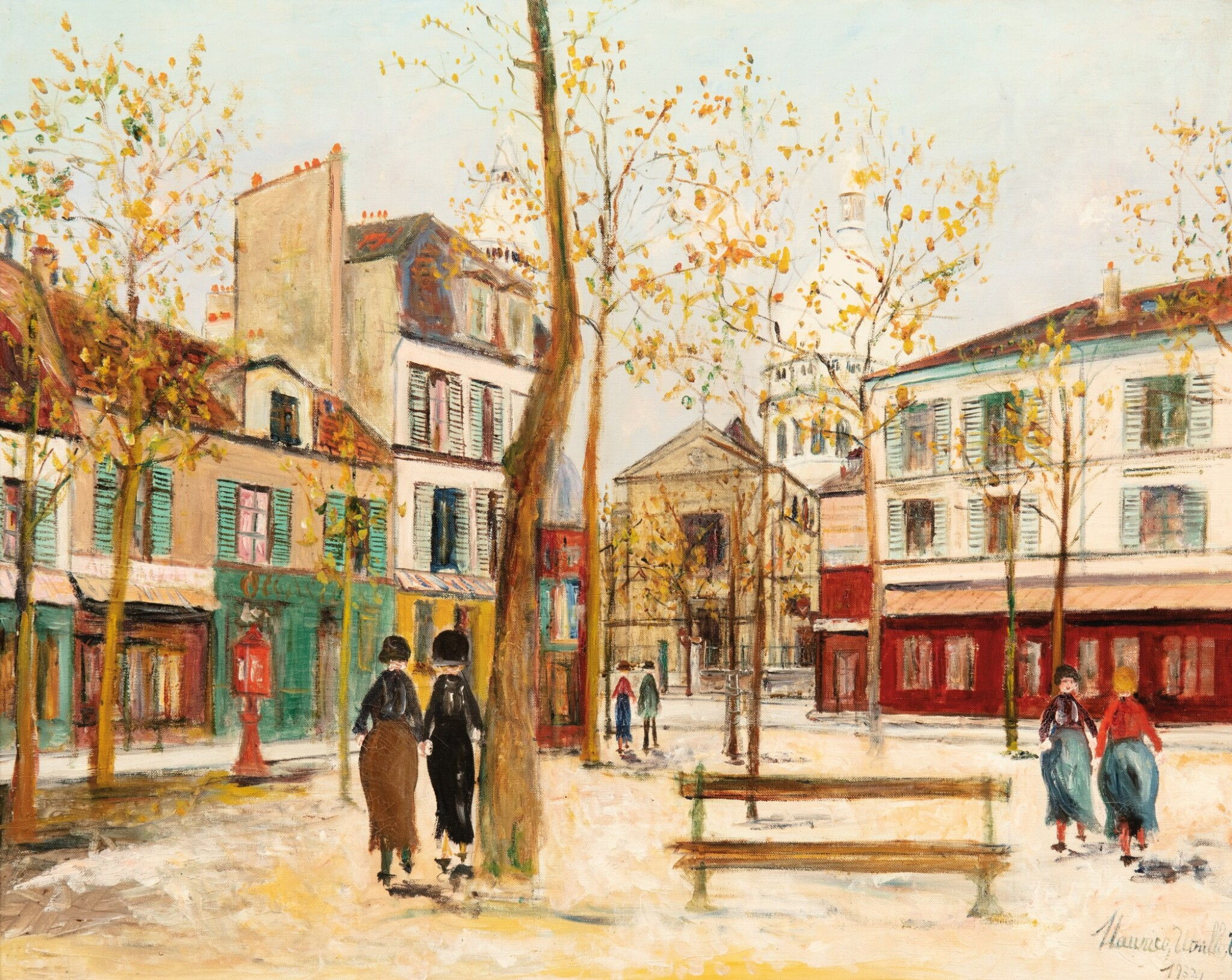 View full screen - View 1 of Lot 49. MAURICE UTRILLO | PLACE DU TERTRE À MONTMARTRE     .