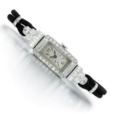 View 1. Thumbnail of Lot 147. Lady's diamond cocktail watch, circa 1930.