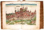 Schedel, Liber chronicarum, Nuremberg, 1493, hand-coloured, vellum over wooden boards, lacking maps