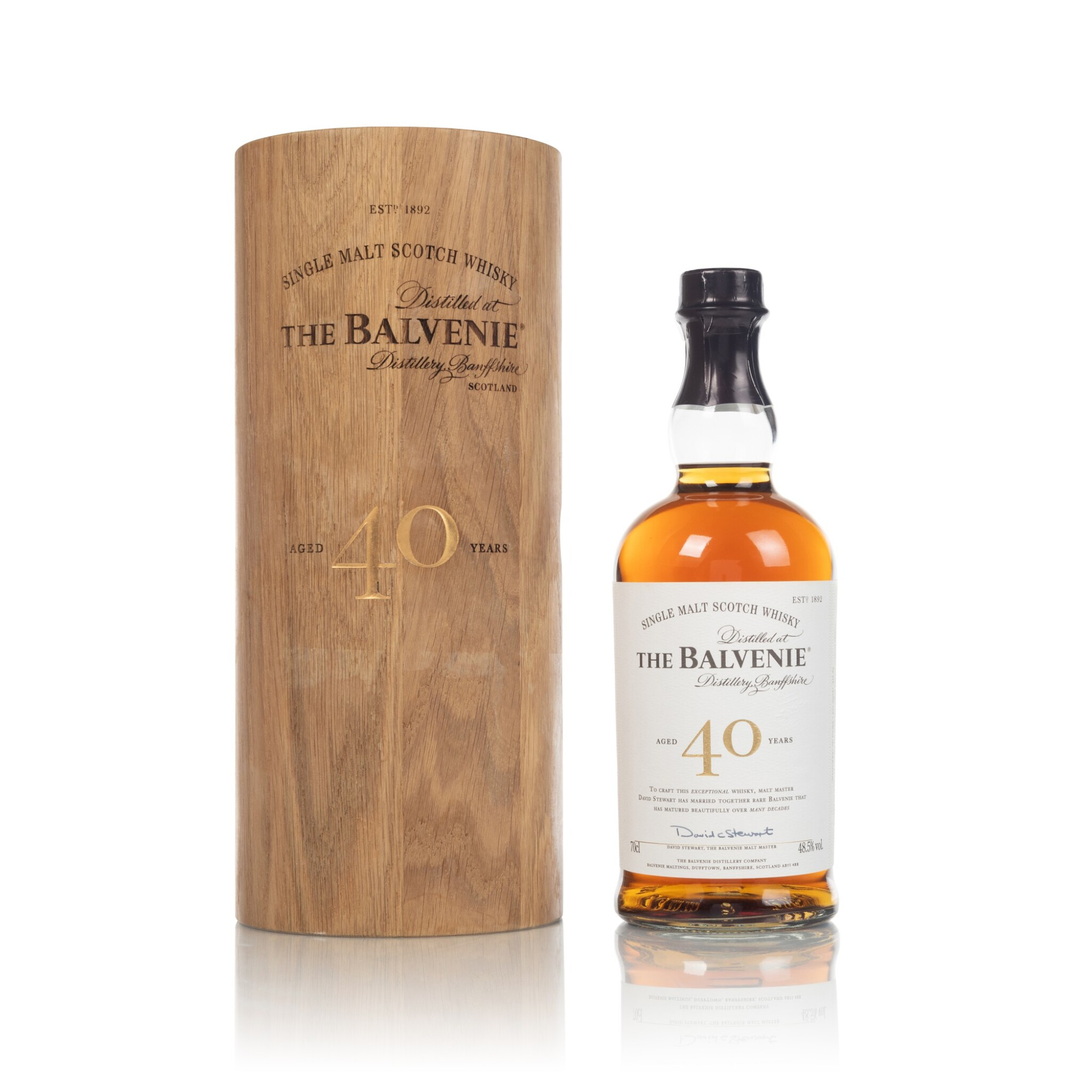 View full screen - View 1 of Lot 59. The Balvenie 40 Year Old 48.5 abv NV (1 BT70).